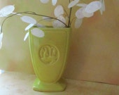Sunny Lemon Yellow Vintage Art Deco Deer Vase