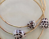 Make Your Own Yellow or Rose Pink Gold Hebrew Cone Shell Bangle 14 or 12 Gauge Thick
