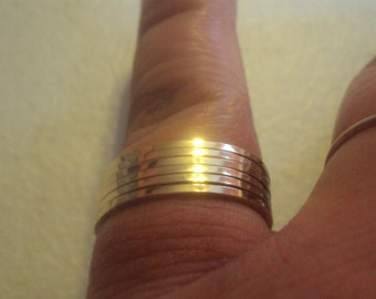Etsy jewelry, stacking ring, square, 14kt gold fill, any size, choose your finish and texture