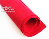 10 Sheets - RED - Wool Blend Felt - 12 x 18 inch sheets