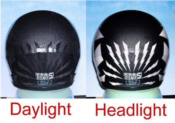Lightning Reflective Decal Set Reflective Lightning Helmet - Custom reflective helmet decals motorcycle