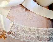 Ivory lace mask. Masquerade ball, Wedding,  Bachelorette Party, Marie. Feminine, sexy mask or blindfold. Rhinestones and satin ties.