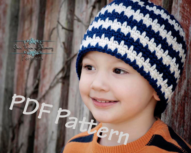 Easy crochet beanie pattern easy crochet hat pattern striped