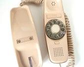 Vintage Rotary Trimline Telephone Tan