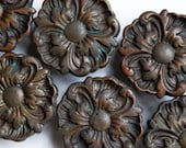 FREE SHIPPING 6pc Vintage Antique Large Ornate Victorian Drawer Pulls, Set of 6, ET804 - BUiLDiNGCHARACTER