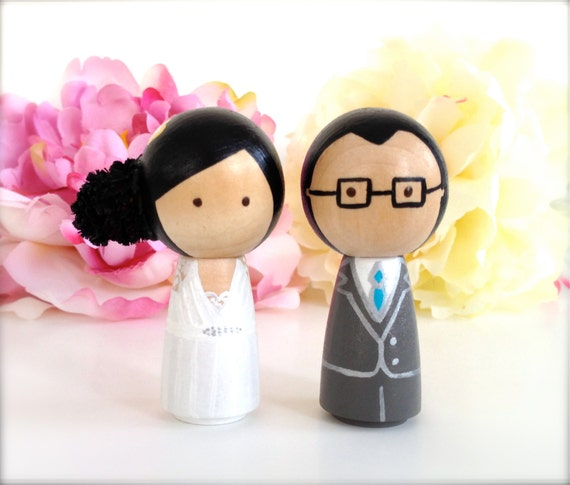 natural hair wedding cake toppers custom wedding cake topper kokeshi doll by 17717