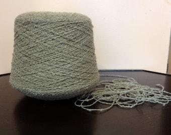 SALE WAS 19.95. Grey  Italian  Wool Blend Yarn.  2 pounds 2 ounces. Light Grey.