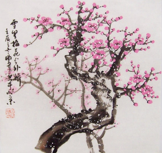 Gallery For gt Chinese Cherry Blossom Tree Drawing