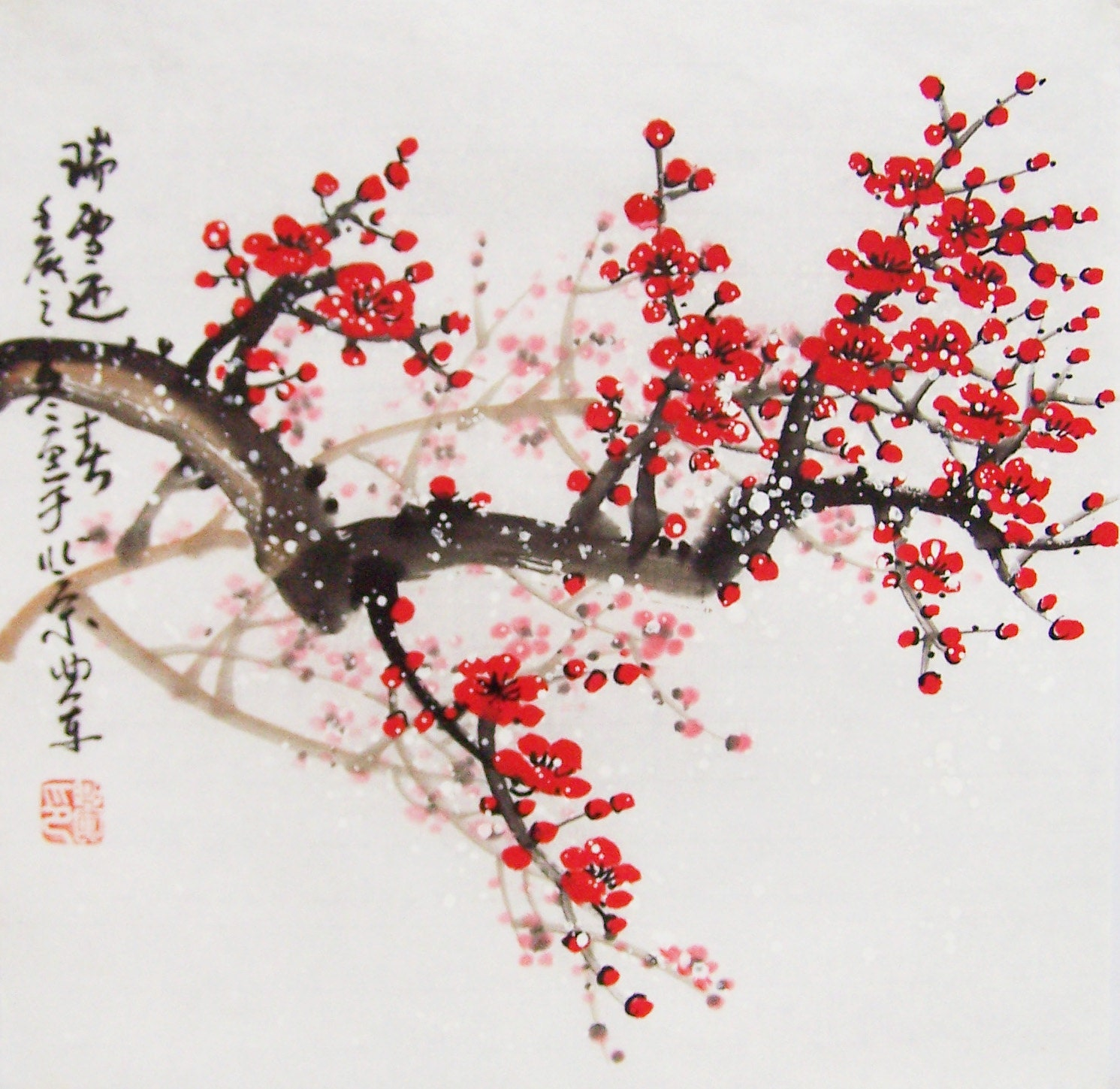 Cherry Blossom paintings Original chinese painting oriental
