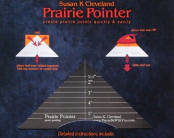 Prairie Pointer Pressing Tool for making Perfect Prairie Points