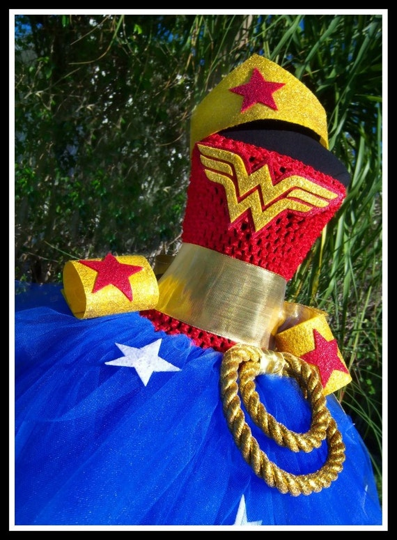 WONDERFULLY CUTE Wonder Woman Inspired Crochet Tutu Dress With