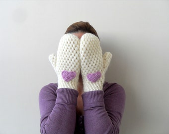 Winter Accessories, Valentines Day Gift, Fingerless Gloves, Crochet Gloves, Mittens,Crochet Mittens,Arm Warmers, Love
