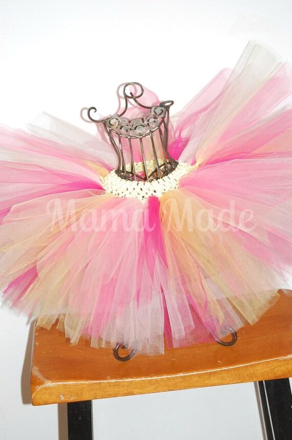 Pink LemonadeTutu, pink, yellow ,white, fuchsia, hot pink tutu,pink and yellow tutu,girls tutu,flower girl tutu,birthday tutu,wedding tutu