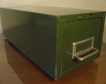Vintage Steelmaster Green File Drawer