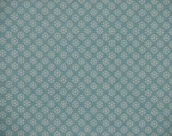 Blue Dotted Flower Fitted Crib Sheet