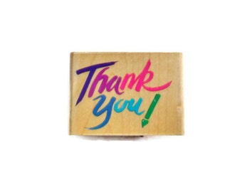 Thank You  Rubber Stamp by Rubber Stampede 1993