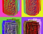 Coca cola Pop art poster - rolled canvas