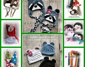 ANY 5 PDF Crochet Patterns Sale - Great tutorials lots of pictures by AngelsChest