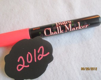 Pink Chalkboard Markers-  Pink Chalk Pen-Bistro Chalk Marker for writing on Vinyl Chalkboard-Dry Erase-Glass Marker