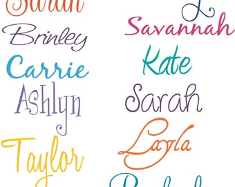 Girl Name for bedroom door PERSONALIZED Vinyl Wall Decal