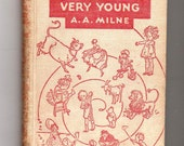 A.A. Milne 1924 Vintage Book Children's Antique Book Poetry Poems Rhymes Illustrations