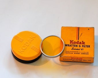 Five Vintage Kodak filters in original boxes/containers