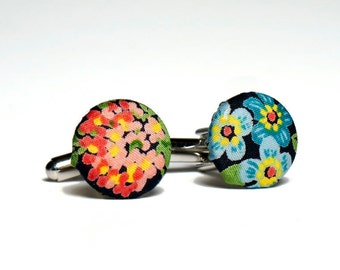 Pomp & Ceremony, Men's cuff links, Liberty of London Edenham print