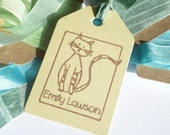 Charity Custom Feline Friend Olive Wood Stamp