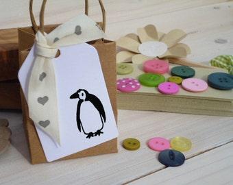 Little Penguin Olive Wood Stamp