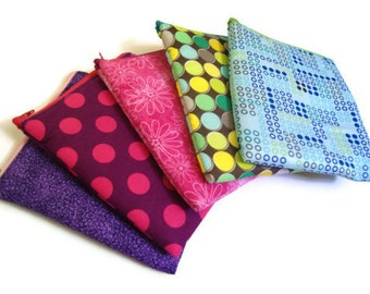 Reusable Sandwich Snack Bags, Eco Friendly, Custom Made to Order - SET OF FIVE, You Pick the Colors