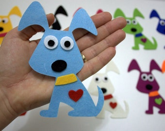 48 Pieces, 6 Sets  Die Cut Doggy, Colorful DIY Kit