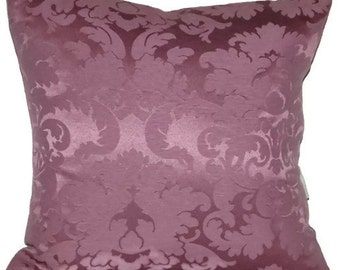 "Radiant Orchid, Purple Damask Decorative Pillow Cover 18"" X 18"" Throw Pillow, Cushion Cover,   Home Decor Fabric"