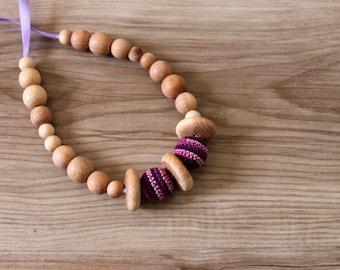 Purple Lavender Nursing Necklace / Breastfeeding Necklace / Teething Necklace Made In Israel