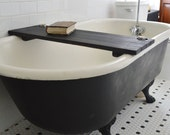 Ebonized Tub Caddy by Peg and Awl