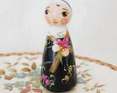 Saint Rita of Cascia Catholic Saint Toy - Wooden Doll - Made to Order