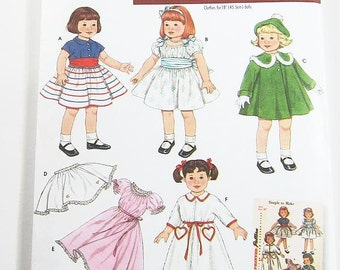 Vintage Doll Clothes Pattern - Simplicity 3929 - Simplicity Archives 18 Inch Doll Clothes