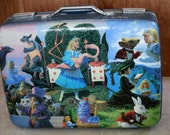 Alice in Wonderland suitcase -Private for Alexa Steele