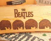 The Beatles Wood Burned Wall Art Plaque A Hard Day's Night Fan Gift
