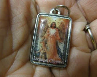 Silver RARE ArchangelL CHAMUEL Medal Angel of LOVE Help Find a Job,Resolve problem in Relationships pendant amulet for necklace bracelet