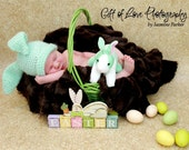 Adorable... Newborn up to 3 Month.... BUNNY.... Easter Hat ...4 colors... READY to SHIP... Photo Prop