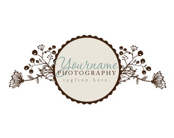 Photography Logo & Watermark - Pre-made for Photographer - Wildflower