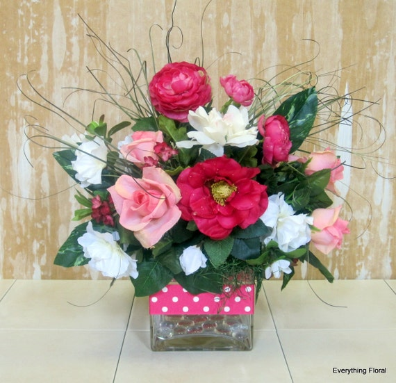 Silk Flower Arrangement Mother 39 S Day Gift By Everythingfloral