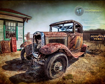 The Good Years Fine Art  Photographic Print- Old Truck Print