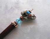 Erin the Elephant Beaded Hair Stick