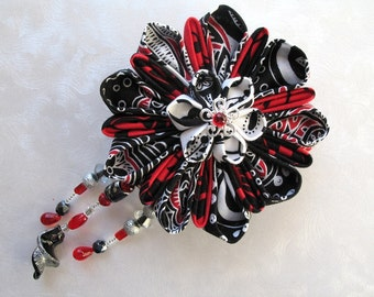 Elegant Abstractions Large Kanzashi Flower Hair Clip