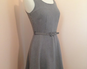 Cute Short Spring Summer Vintage Gingham Stylish 80s Dress