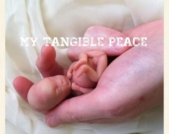 ooak, 11 week, gestation, baby Memorial/Honor Sculpture- MADE TO ORDER