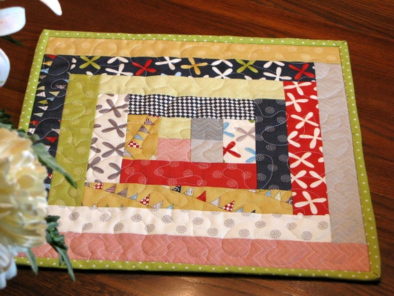 Quilted Table Topper, Candle Mat, Table Runner, Table Cloth, Centerpiece