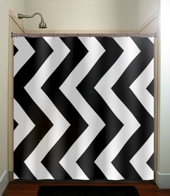 giant big large black white chevron shower by tablishedworks