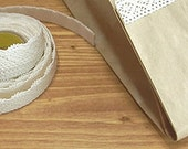 Natural Lace Adhesive Fabric Tape - 06.White (0.6in)